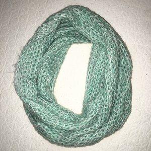 Knit light blue infinity scarf